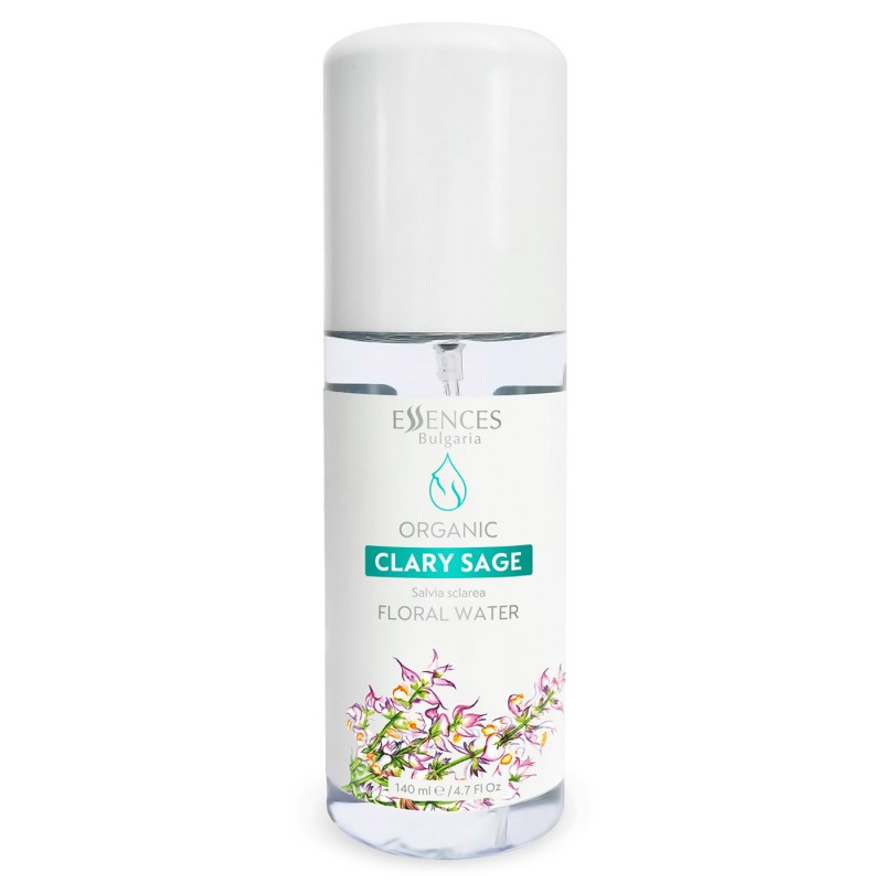 Organic Clary sage Floral Water - 100% pure and natural (140ml)