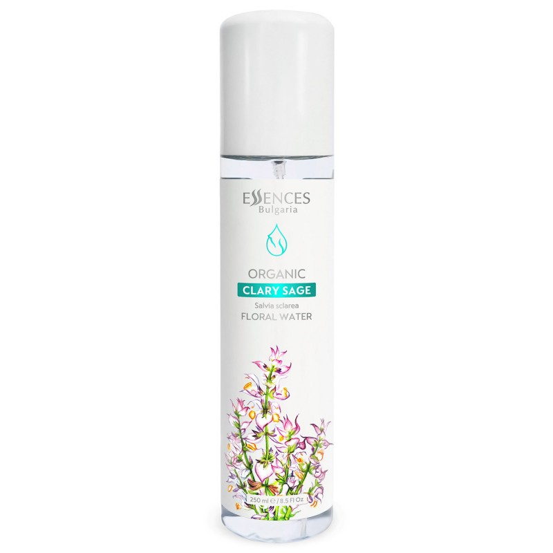 Organic Clary sage Floral Water - 100% pure and natural (250ml)
